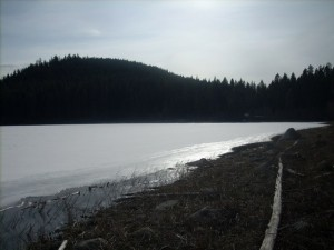 Ice still on Black lake!