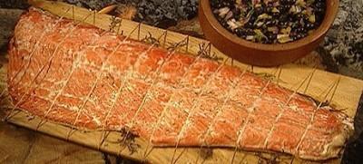 cedar plank Sockeye salmon ... yummy!