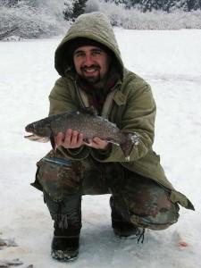 Red Lake BC Interior Ice Fishing Action