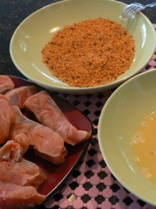 Spicy Crusted Salmon Steaks Recipe .. the ingedients!