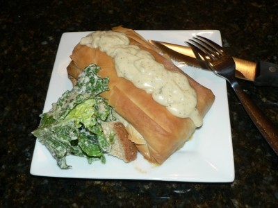 Salmon & Crab Stuffed Phyllo Recipe ... delicious!