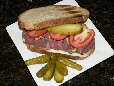 Italian Corned Venison Sandwich ... now that's a sandwich!!!