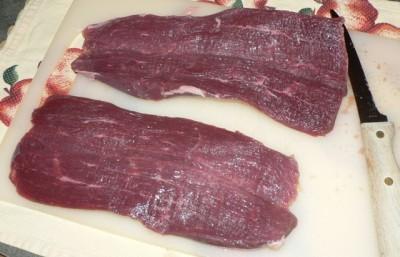 Stuffed & BBQ Venison Tenderloin Recipe ... cut open