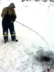 ... back on ice ... Williston lake ice that is!