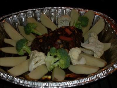 ... JP's Peppered Garlic Venison Roast & Vegitables!