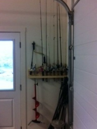 ... the rod rack fishing rod organizer in action!