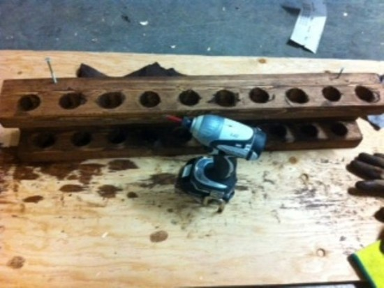 ... screwing the rod rack together!