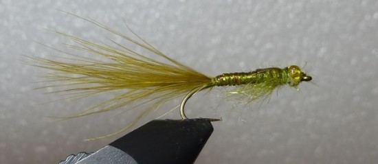 ... whip finish and the stump lake damselfly nymph fly pattern is done!