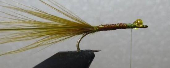 ... wind the krystal flash up the Stump lake damselfly nymph fly pattern.