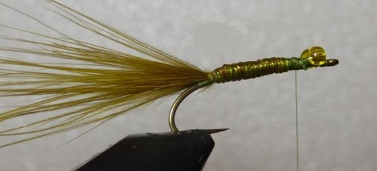 ... wind up the vinyl over the stump lake damselfly nymph fly pattern!