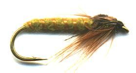 ... original yellow wool stump lake damselfly nymph fly pattern!
