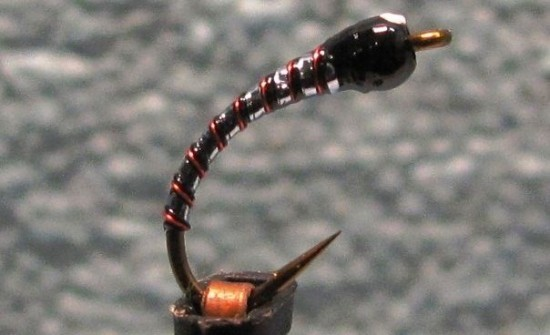 fly fishing bomber chironomids - a chromie bomber chironomid pupa fly