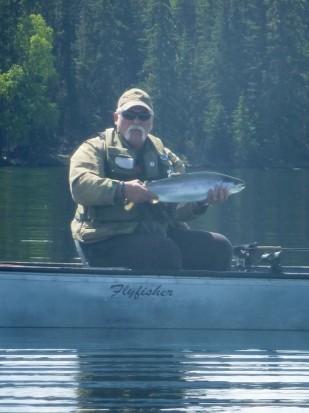 Sheridan Deep Water Chironomids - a 7.5 Sheridan Lake Rainbow Trout!