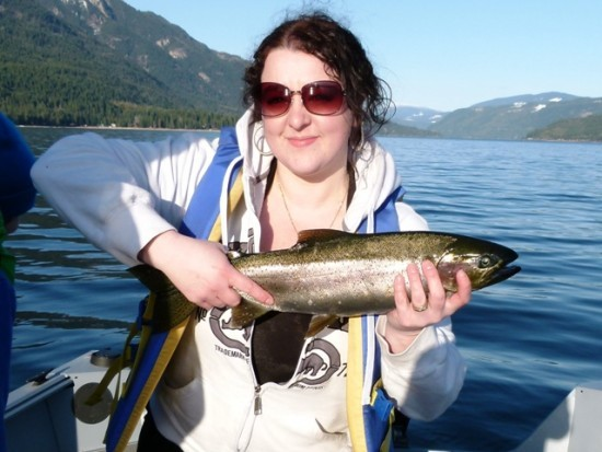 ... big Shuswap lake Rainbow trout!