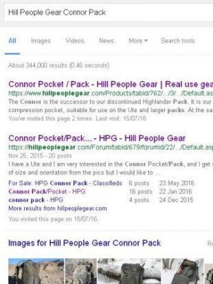Hill People Gear Connor Pack Google Search Results