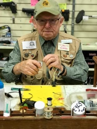 Trout School - Lessons from a Fly Fishing Master - Mo Bradley at the Fly Tying Bench