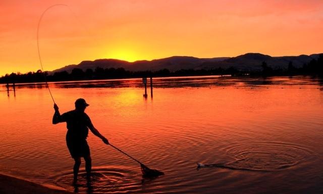 Fly Fishing the Flow - Sunset Landing
